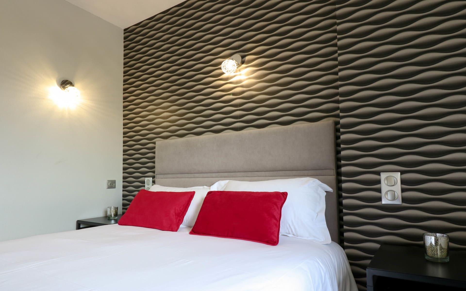Chambres double cosy - Hôtel 3 étoiles aéroport Rennes