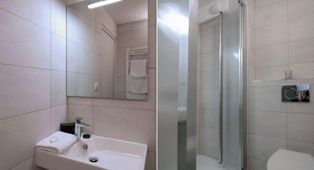 Salle de bain chambres cosy Hôtel 3 étoiles Rennes aéroport