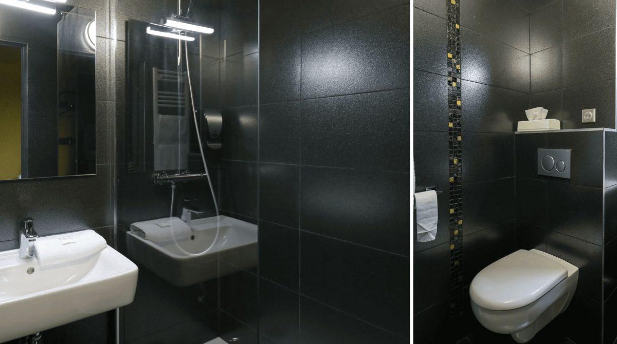 Salle de bain chambres deluxe Hôtel 3 étoiles Rennes aéroport
